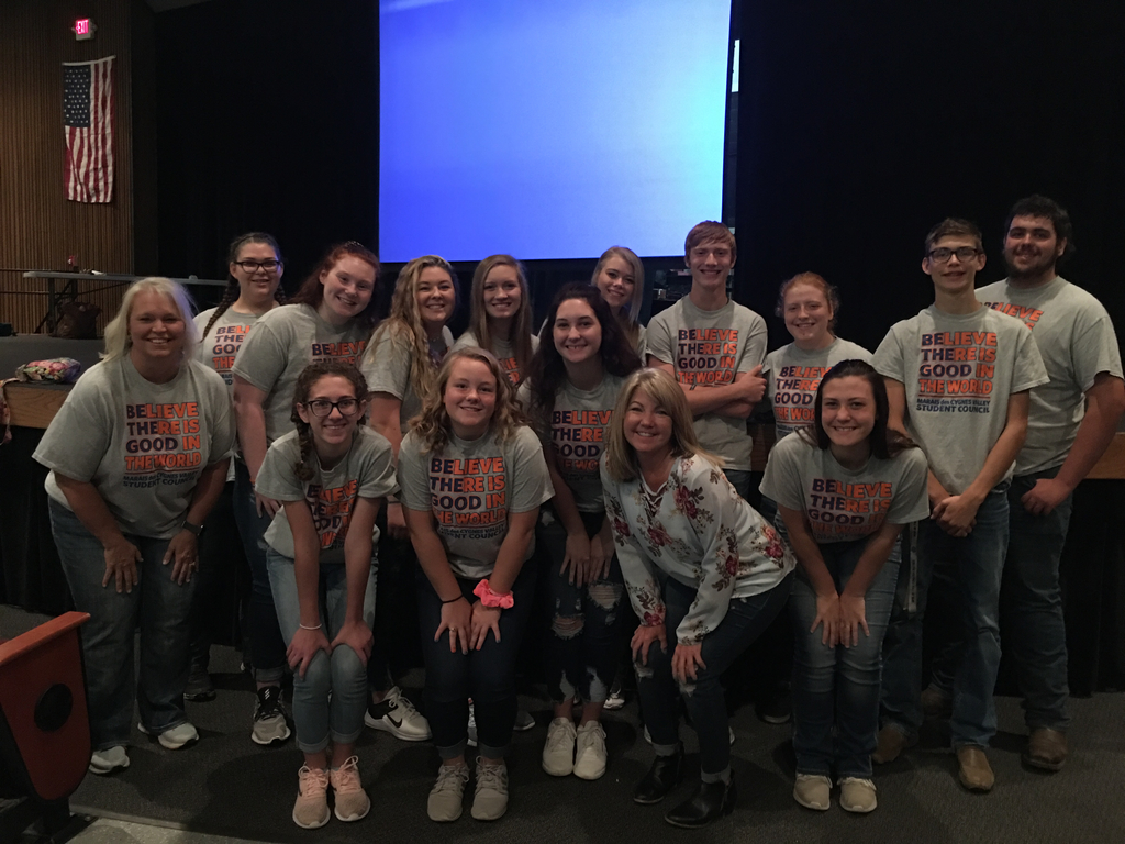 High school STUCO with speaker Miss Heather Schultz.