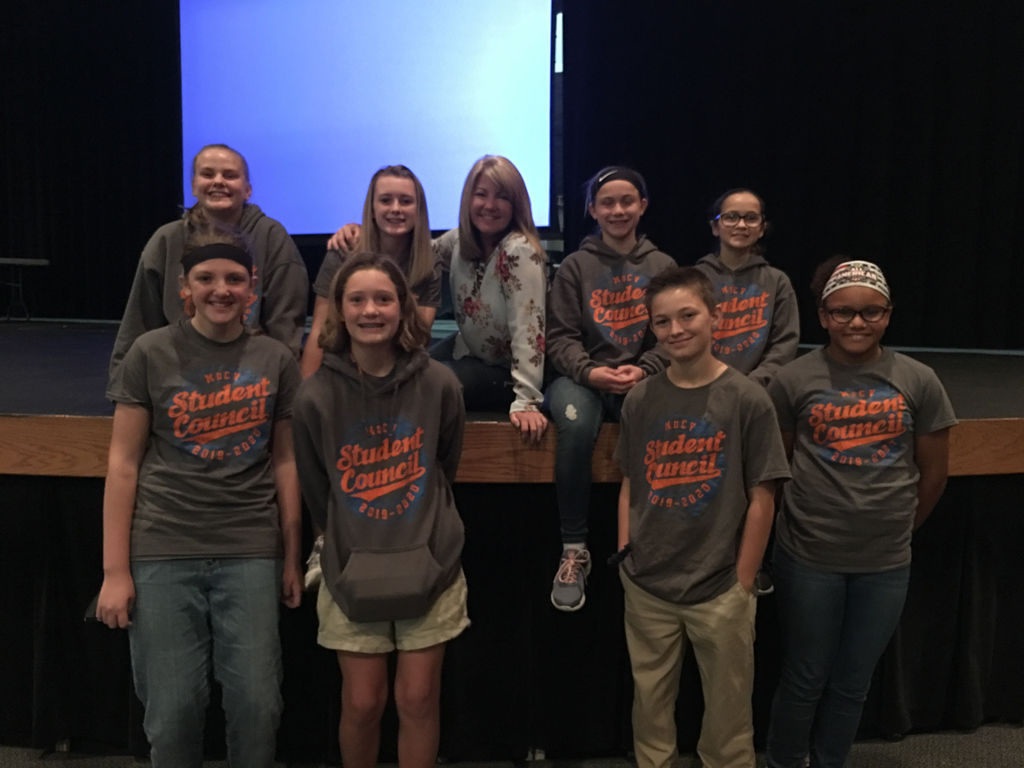 Junior High STUCO with speaker Miss Heather Schultz.
